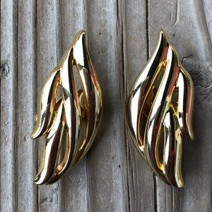 Givenchy Vintage 80's Chunky Gold Clip On Earrings